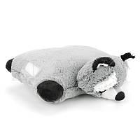 Мягкая игрушка подушка Енот 45 см