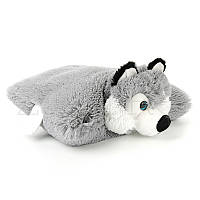 Мягкая игрушка подушка Собачка Хаски 45 см