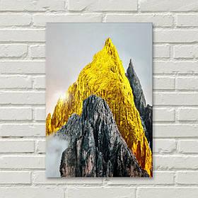 """Постер на полотні """"Золота гора"""""""