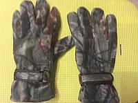 Перчатки флисовые двойные камуфлированные р.L , фото 1