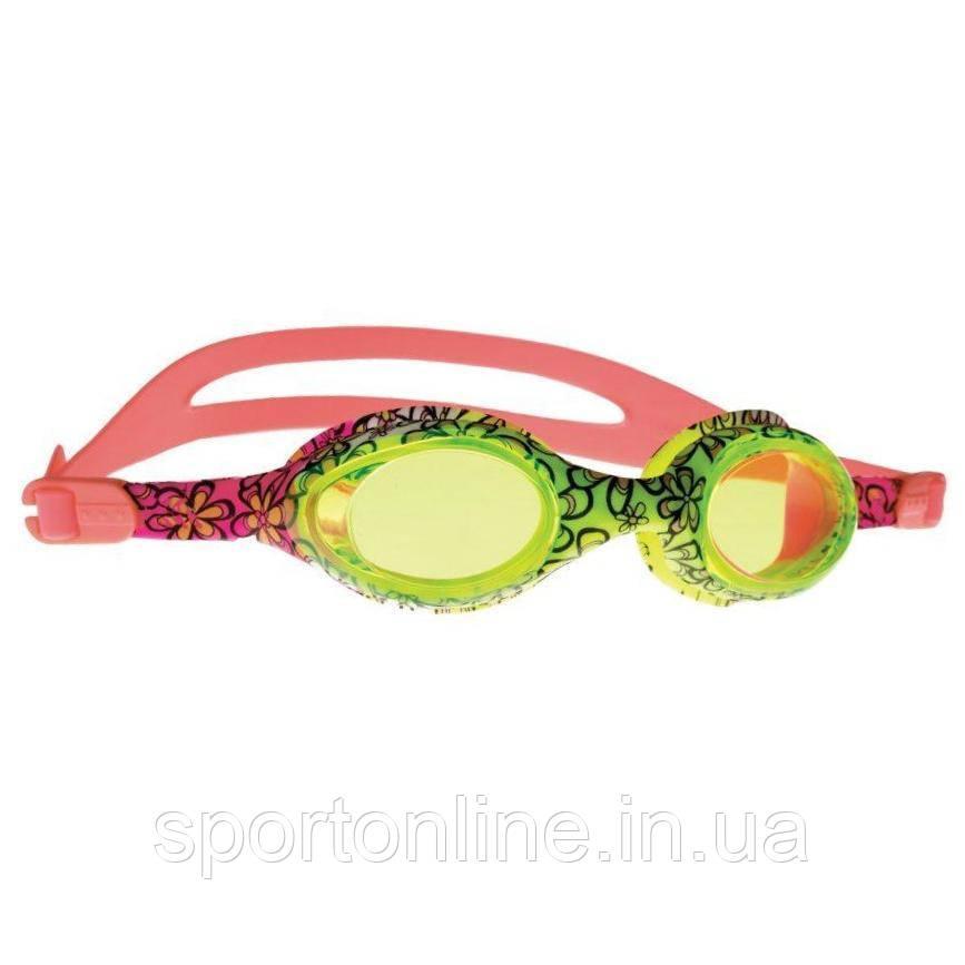 Очки для плавания детские Spokey Barbus, розовые с салатовым
