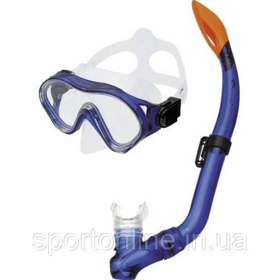 Маска для плавания детская Spokey Cayman Junior, с трубкой, синяя