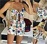 Р 42-46 Літній костюм кольорові шорти з ліфом 21980