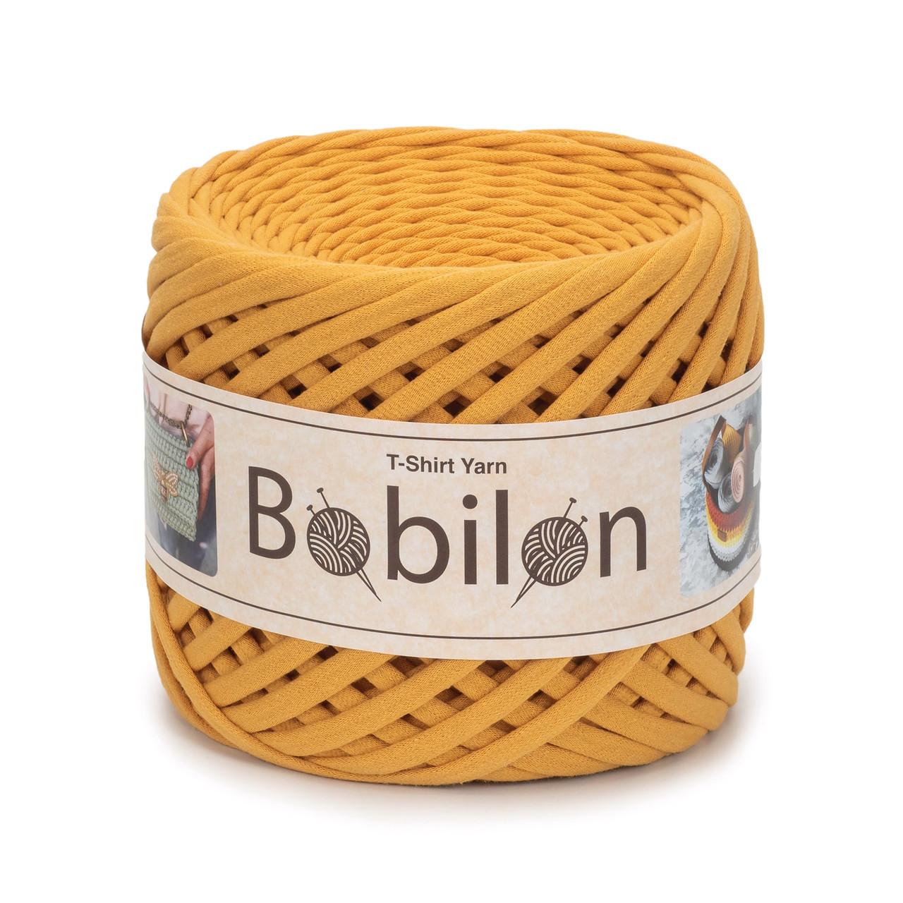 Трикотажная пряжа Bobilon Medium (7-9 мм) Mustard Горчица