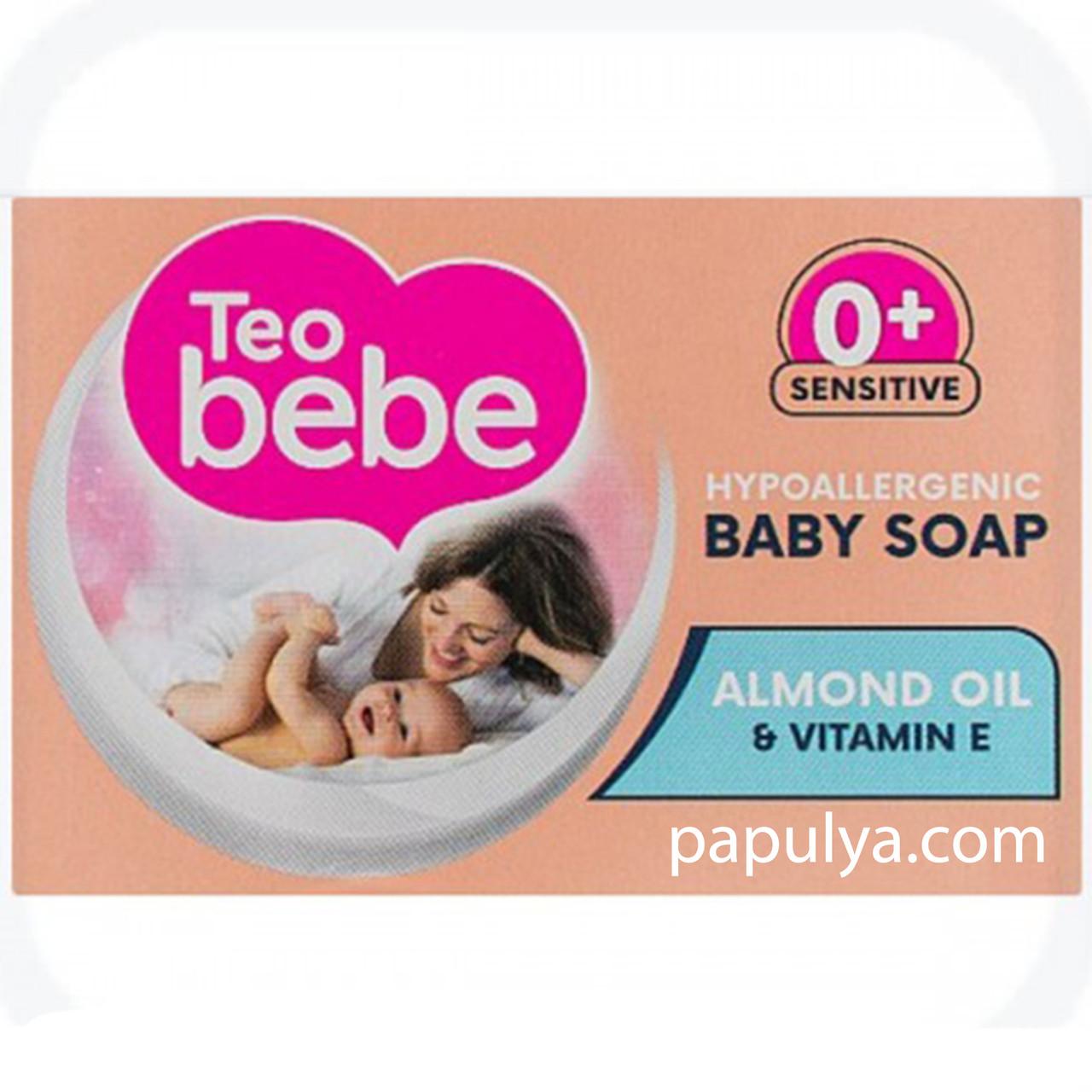 Детское твердое мыло Teo Bebe с миндальным маслом, 75г