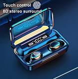 Беспроводные наушники TWS F9-5С Черные Bluetooth  сенсорные HD Stereo Heavy Bass PowerBank., фото 2
