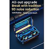 Беспроводные наушники TWS F9-5С Черные Bluetooth  сенсорные HD Stereo Heavy Bass PowerBank., фото 8