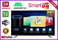 Телевизор Samsung 32 дюйма SMART TV, 4К LED, Full HD, Wi-Fi, с подставкой T2, Самсунг, Смарт ТВ на андроид 9