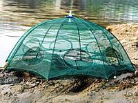 Рыболовная верша паук усиленная на 6 входов
