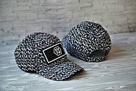 Кепка молодежная стильная Philipp Plein Филип Плейн 78 черно-белая (реплика)