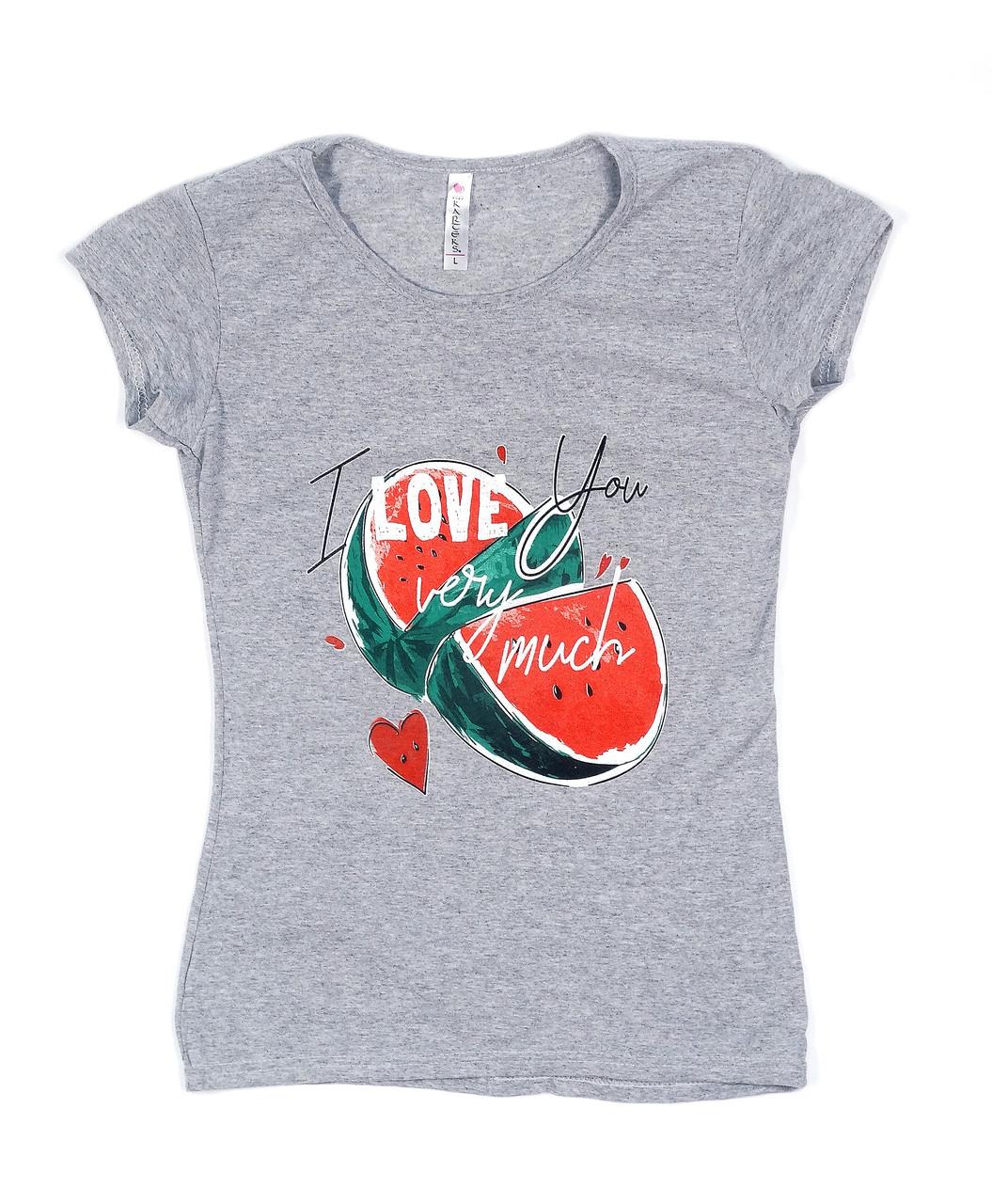 Модная футболка с летним рисунком (42-48)