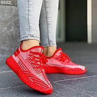 Красные текстильные кроссовки, фото 1