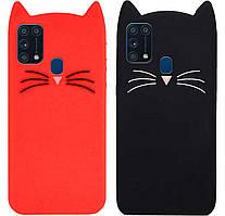 Чехол-накладка TPU 3D Cat для Samsung Galaxy A31 SM-A315F