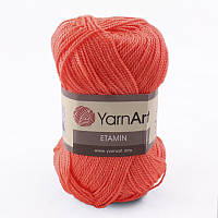 Пряжа Etamin (этамин)30гр - 180м (458 Коралловый) YarnArt, 100% акрил, Турция
