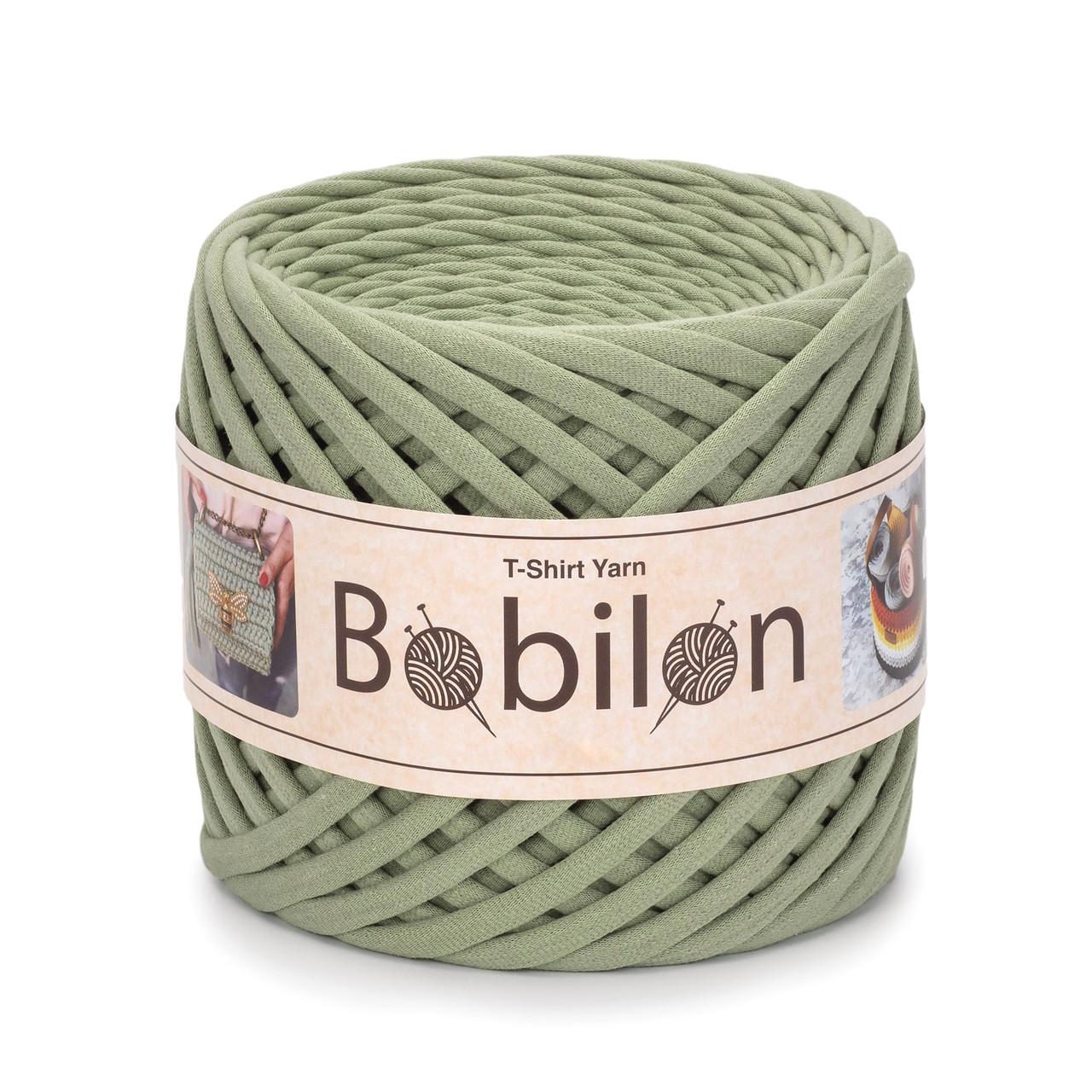 Трикотажная пряжа Bobilon Maxi (9-11 мм) Olive Оливковый