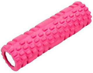 Йога-роллер фитнес-валик Grid Combi Yoga Roller 8х30 см розовый