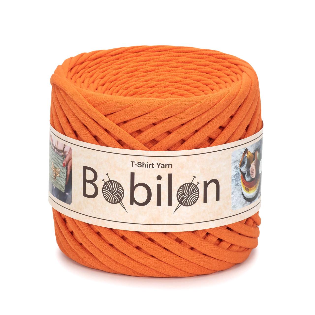 Ленточная пряжа Bobilon Maxi 9-11 мм Orange Оранжевый Апельсин