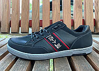 Кросівки кеди чоловічі чорні на осінь 40,43 розмір