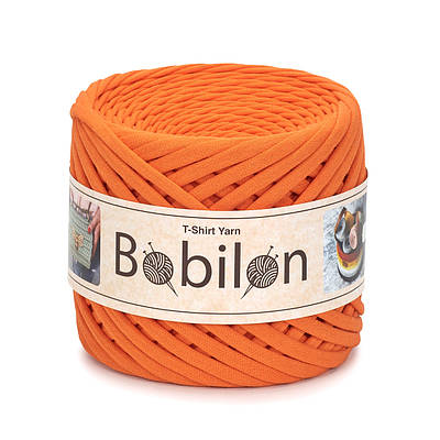 Трикотажная пряжа Бобилон Micro 3-5 мм Orange Оранжевый Апельсин
