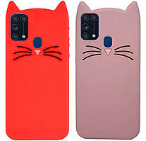 Чехол-накладка TPU 3D Cat для Samsung Galaxy M31 SM-M315F