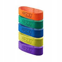 Гумка для фітнесу та спорту тканинна 4FIZJO Flex Band 5 шт 1-29 кг 4FJ0155