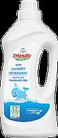 Органічний рідкий пральний порошок Friendly organic без запаху 1000 мл (20 прань)
