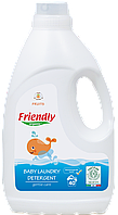 Органічний рідкий пральний порошок Friendly organic фрукти 2000 мл (40 прань)
