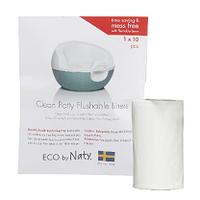 Одноразові змиваються пакети з 100% переробляється плівки Eco by Naty 30 шт