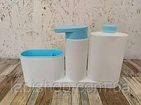 Органайзер для раковины с дозатором для мыла SINK BASE PLUS 3 в 1, фото 10