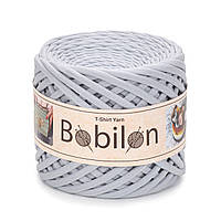 Трикотажная пряжа Bobilon Medium (7-9мм) Silver Серебро