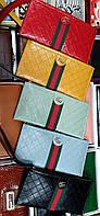 Брендовые женские кошельки-барсетки Gucci на молнии (6 цветов)19*9см