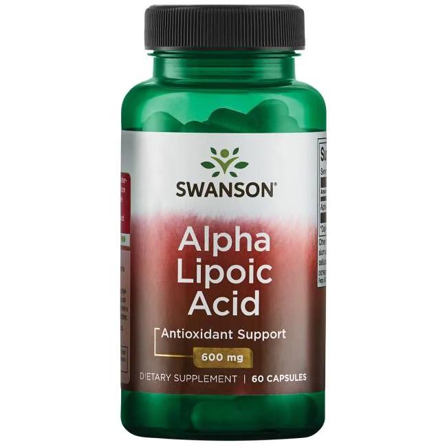 Swanson Alpha Lipoic Acid Альфа ліпоєва кислота 600 mg 60 капс