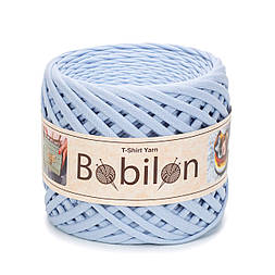 Трикотажная пряжа Bobilon Mini (5-7 мм) Sky Blue Небесно-голубой