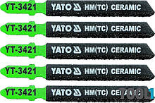Набор пилок по керамике для электролобзика Yato YT-3421