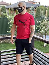 Летний мужской спортивный костюм. Набор футболка шорты мужской. Спортивный комплект шорты с футболкой Puma