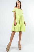 Красивое платье из прошвы с открытыми плечами Zemfira (42–52р) в расцветках, фото 2
