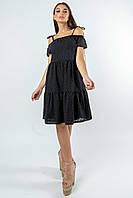 Красивое платье из прошвы с открытыми плечами Zemfira (42–52р) в расцветках, фото 4
