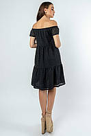 Красивое платье из прошвы с открытыми плечами Zemfira (42–52р) в расцветках, фото 6