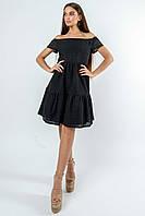 Красивое платье из прошвы с открытыми плечами Zemfira (42–52р) в расцветках, фото 5