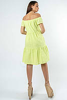 Красивое платье из прошвы с открытыми плечами Zemfira (42–52р) в расцветках, фото 3