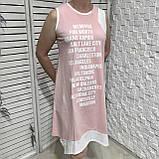 Модне літнє трикотажне плаття з принтом, фото 6