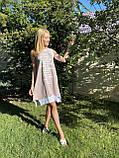 Модне літнє трикотажне плаття з принтом, фото 4