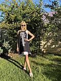 Модне літнє трикотажне плаття з принтом, фото 3