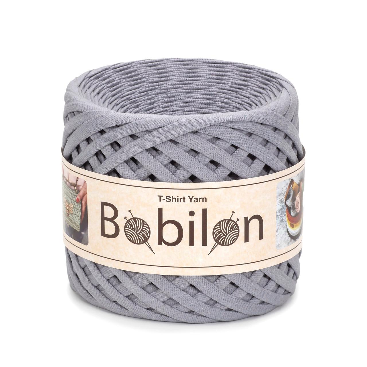 Трикотажная пряжа Bobilon Mini (5-7 мм) Space Gray Пепельный цвет