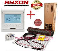 Теплый пол дома Ryxon HM-200/ 11,0 м² нагревательный мат с программируемым терморегулятором E51