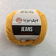 Пряжа Jeans 50гр - 160м (35 Желтый) YarnArt 55 % хлопок, 45 % полиакрил, Турция