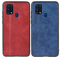 Кожаная накладка Line для Samsung Galaxy M31 SM-M315F, фото 1