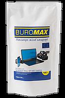 Салфетки для чистки экранов, мониторов и оптики, влажные, сменный блок, 100 шт. в пласт.пакете