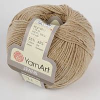 Пряжа Jeans 50гр - 160м (48 Темно-бежевый) YarnArt 55 % хлопок, 45 % полиакрил, Турция