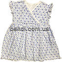 Детское летнее платье рост 68 3-6 мес трикотажное белое на девочку с коротким рукавом для новорожденных малышей Г314, фото 2